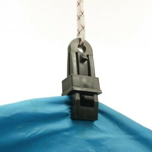 Plastic Black 8.5cm Tent Clip Outdoor Camping Equipment Hiking Accessories