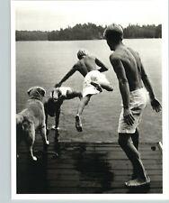 1987 1988 Original Bruce Weber Boys And Dog Going Swimming Photo Gravure Art