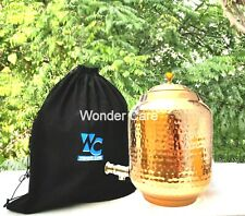More details for  pure copper hammered water dispenser storage water tank with tap | water pot 5l