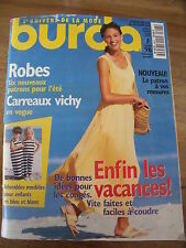 MAGAZINE BURDA TENDANCES ROBES CARREAUX VICHY EN VOGUE    07 /1996