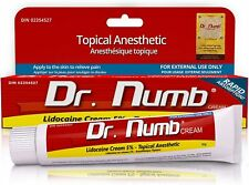 Dr Numb 5% Lidocaine Cream 30g. Skin Numbing, Tattoo, Waxing, Laser (Exp 2/2023)