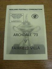 14/05/2010 MIDLAND CALCIO combinazione PRESIDENTI Cup Final: Archdale 73 V Fiera