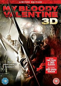 My Bloody Valentine 2D+3D Movie Film Limited Edition DVD and 2 Pairs of Glasses