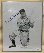 Duke Snider Signed 11x14 Art Print by Frank Nareau - JSA COA Dodgers HOF MLB