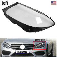 LEFT Headlight Clear Cover Lens For Mercedes-Benz W205 C180 C200 C300 2015-2017