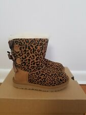 Ugg Toddler Girl Exotic Bailey bow  Size 12  Chestnut  .