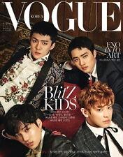 VOGUE TYPE B KOREA MAGAZINE 2017 APR APRIL EXO CLIPPINGS PAGE NEW