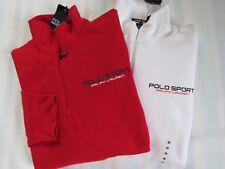 Polo Sport Ralph Lauren Men'S Half Zip Up Fleece, Red / White S, M, Xxl