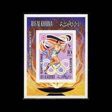 Ras Al Khaima, Bl116B, Mnh,1972, S/S, Olympics, Munich, 1218
