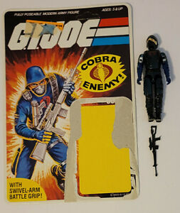 Vintage GI Joe Cobra Soldier with Cardback file card Complete yellowing