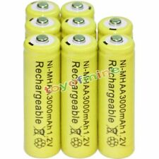 8PCS AA battery batteries Bulk Nickel Hydride Rechargeable NI-MH 3000mAh 1.2V