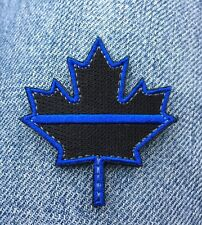 MAPLE LEAF Hook Loop Morale PATCH BLUE LINE CANADIAN SWAT POLICE THIN BLACK TBL