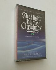 NEW Hallmark The Night Before Christmas Cassette Tape Vintage 1988 popup Book
