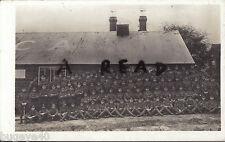 WW1 soldier group Kent Cyclist Battalion outside YMCA Hut