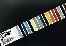 1981 Chevy COLOR CHART Paint Sample Brochure,Vinyl Top: CAMARO,MONTE CARLO,VETTE