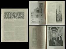 LA CONSTRUCTION MODERNE n°18-19 1905 PARIS, EGLISE ST ANTOINE DES QUINZE VINGTS
