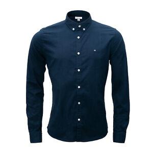 Calvin Klein Herren Hemd, Langarm, navy blue (marineblau), Button-Down-Kragen