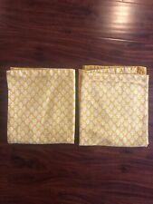 Nwt Threshold Yellow & White Large Pillow Sham 21 x 26