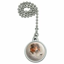 Shetland Sheepdog Dog Breed Ceiling Fan and Light Pull Chain