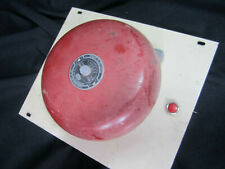 Vintage ADEMCO Mounted Red 8'' Fire Alarm Bell