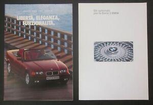 BMW 325i Cabrio E36 Serie 3 brochure originale italiano + optionals Cabriolet
