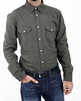 Men's Ex Chainstore 100% Cotton Flannel Colourful L/S Plain Colour Winter Shirts