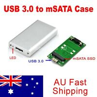 mSATA SSD to USB 3.0 Converter Adapter External Aluminum Hi-Speed Enclosure Case