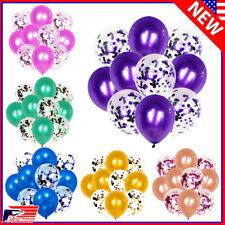 """Bulk Lot 12"""" Confetti Balloons Shiny Latex Happy Birthday Wedding Party Decor"""