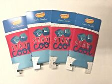 Lot of 4 Stay cool can coolers Koozie party favor summer Bbq pool party