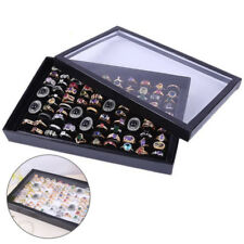 100 Grids Ring Jewelry Display Storage Box Show Case Organiser Earring Holder