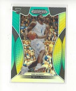 2019-20 Prizm Draft Green and Yellow #1 Zion Williamson RC Pelicans Duke /249
