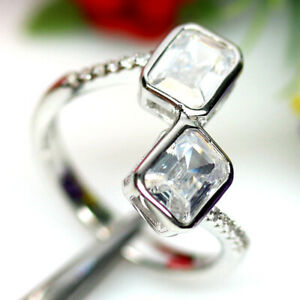AAA WHITE CUBIC ZIRCONIA RING 925 SILVER STERLING SZ6.75