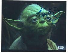 Signed FRANK OZ Star Wars Empire Strikes Back YODA 8x10 PHOTO Beckett BAS Coa