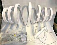 Unitary Modern White Acrylic Spiral Shape Nature White LED Pendant Light  (G238)
