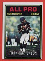 1974 Topps #129 Fran Tarkenton VG-VGEX+ WRINKLE Minnesota Vikings FREE SHIPPING