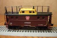 LIONEL PENNSYLVANIA RR LIGHTED PORTHOLE CABOOSE w/ANTENNA  O GAUGE 6-82436-C