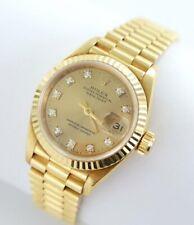 Rolex Datejust Lady 18kt Gold 750er 69178 Diamant Zifferblatt