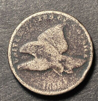 1858 Flying Eagle Cent 1c Obsolete Collectible Us Filler Type Coin