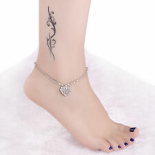 Heart Anklet Ankle Bracelet Chain Fashion Jewelry Women's Crystal Rhinestone