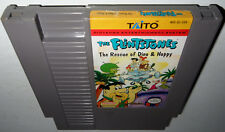 Nintendo NES Game THE FLINTSTONES RESCUE DINO & HOPPY Cleaned&Tested! Super Fun