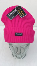 UNISEX  THERMAL INSULATED FULLY FLEECE LINED NEON  LUMINOUS WINTER BEANIE HAT