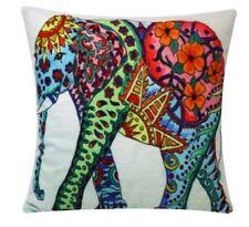 Multicolor Impresión Azteca Elefante Chenilla Algodón 17x17 Cama, Sofá