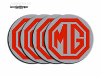 MG ZR Alloy Wheel Centre Cap Badges Red & Silver 80mm Logo Set of 4
