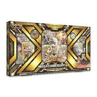 Pokemon TCG: Mega Camerupt-EX Premium PIN COLLECTION+6 booster pks
