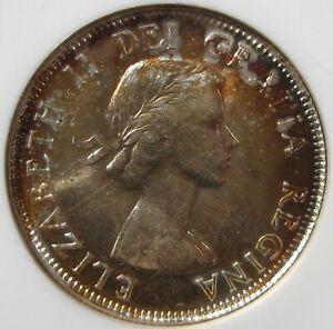 1953 Canada 25 Cent Quarter NGC MS65 No Fold Toned