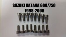 Suzuki Katana 600 750 Stainless Carburetor Carb Float Bowl Screws (98-06)