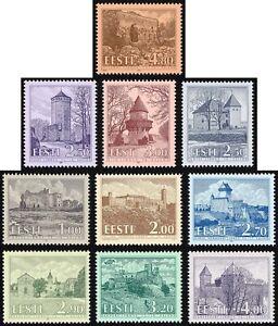 Stamp SET of ESTONIA 1993 - 1997 - Castles in Estonia (10 stamps)