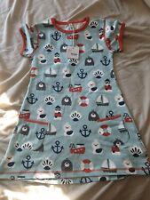 Maxomorra 122-128 Blue Ocean Short Sleeve Tunic Scandi