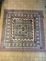 1960's SOLOMON Tapa Cloth 4 FEET by 4 FEE Tree Bark Cloth Polynesia Handmade