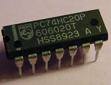10x pc74hc20p DUAL 4-INPUT NAND GATE del, Philips